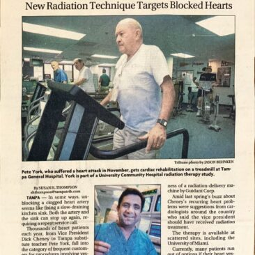 New radiation technique for blocked hearts