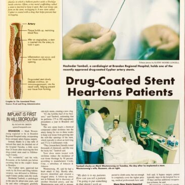 First Heart Stent in Hillsborough County
